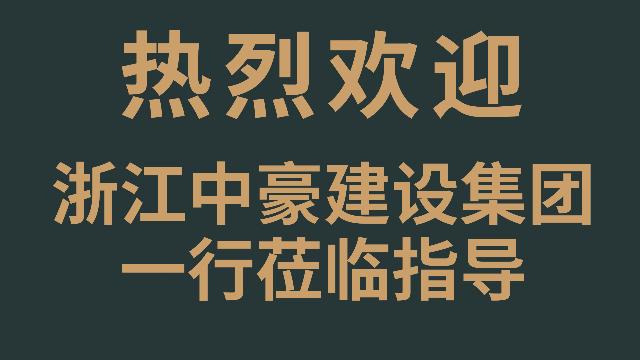 浙江中豪建设集团一行莅临欧林如海杭州旗舰店参观交流