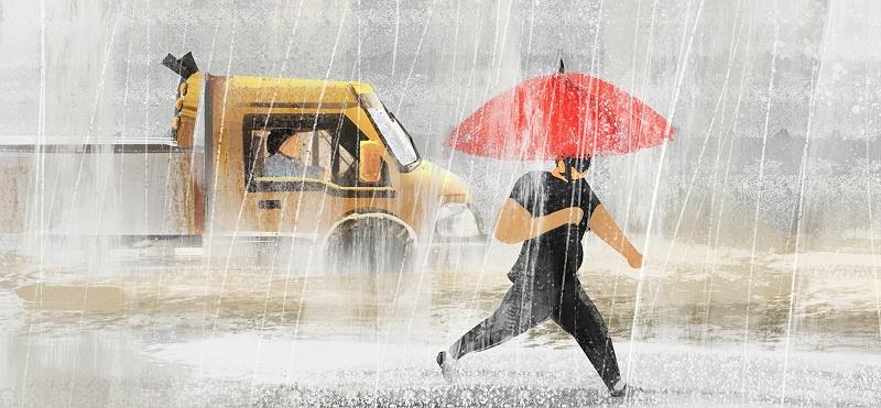 摄图网_401174642_banner_冷空气大雨暴雨插画(非企业商用)
